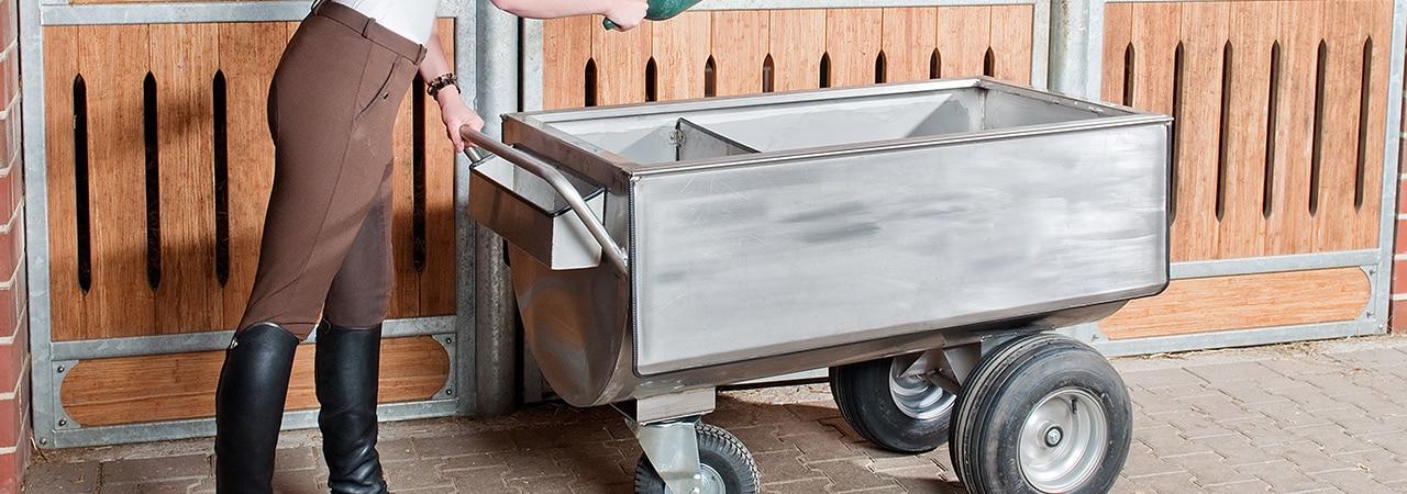 Chariot d'alimentation inox manuel / électrique