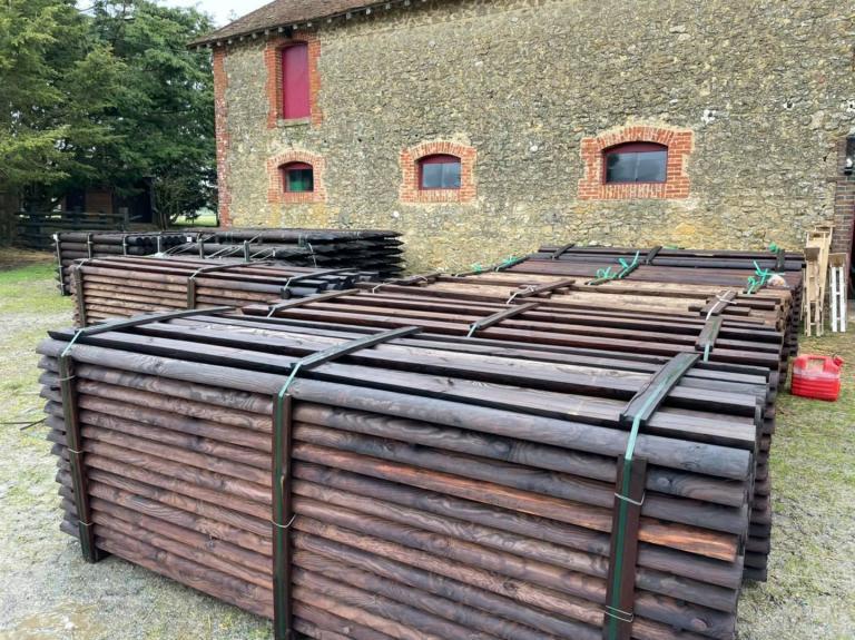 Livraison d'1 km de clôtures dans la Sarthe (72)