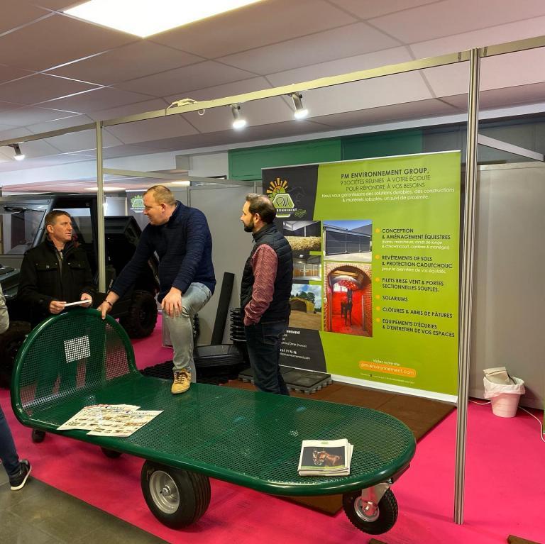 PM Environnement à l'Hippodrome de Vincennes pour le salon ExpoÉtalons 2020 (75)