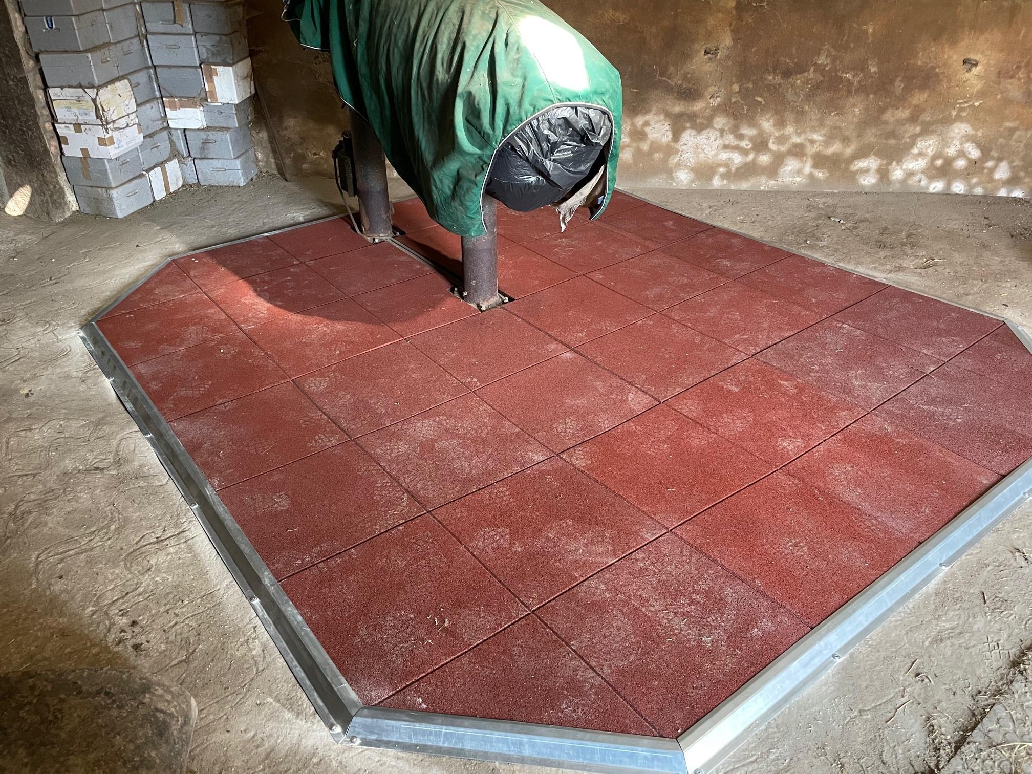 fourniture et pose de revêtement de sol pour une station de monte proche de Bayeux (14).